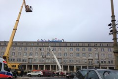 Aktywiści Greenpeace protestują na budynku resortu gospodarki