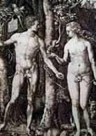 Akwaforta: Albrecht Dürer, Adam i Ewa, 1504 r. /Encyklopedia Internautica