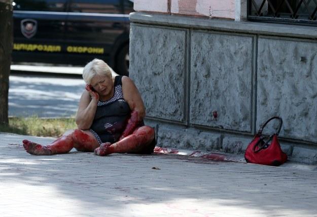 Alarm w Doniecku. Na miasto spadły pociski