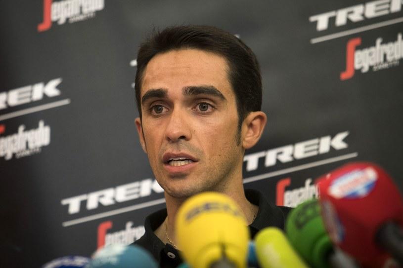 Alberto Contador przed startem Vuelta a Espana. /AFP