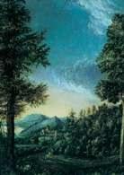 Albrecht Altdorfer, Pejzaż naddunajski, 1520-25 r. /Encyklopedia Internautica