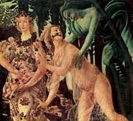 Alegoria: Sandro Botticelli, fragment Alegorii wiosny, 1477-78 r. /Encyklopedia Internautica