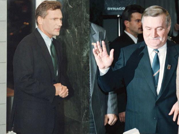Aleksander Kwaśniewski i Lech Wałęsa w 1995 roku /AFP