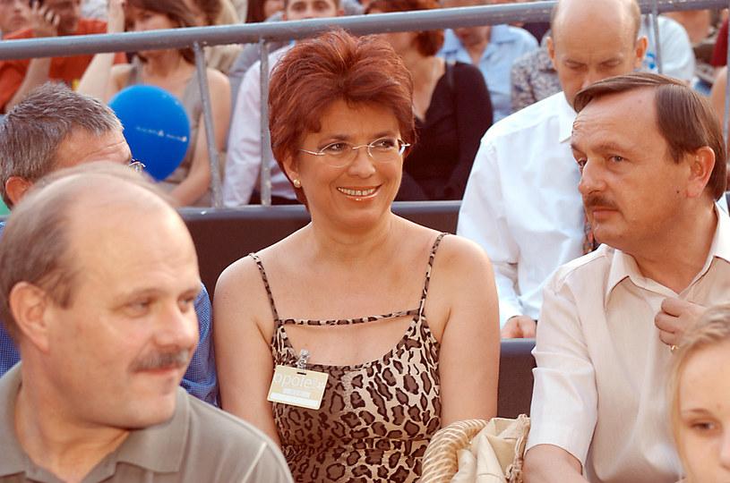 Aleksandra Jakubowska podczas festiwalu w Opolu, 2003 r. /Adam Prończyk /AKPA