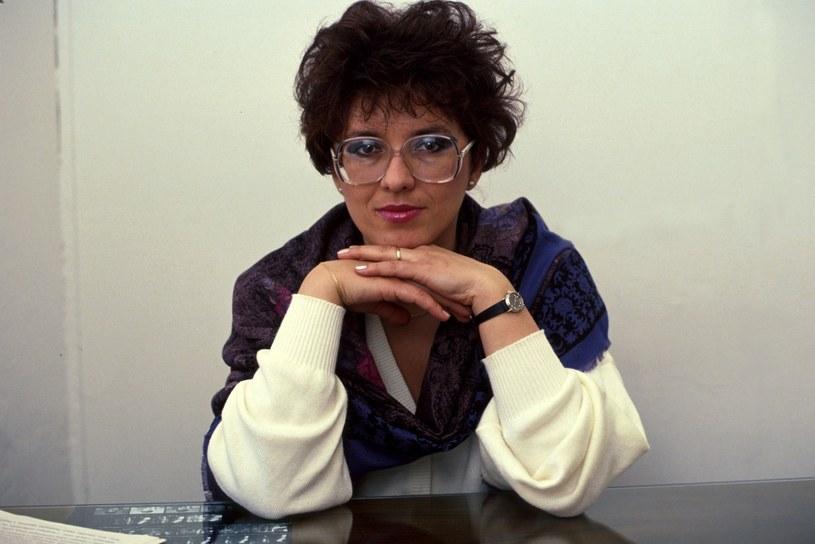 Aleksandra Jakubowska w latach 90. /Jacek Dominski/REPORTER /East News