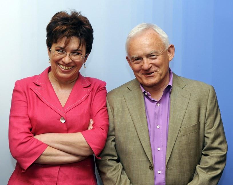 Aleksandra Jakubowska z Leszkiem Millerem /Jan Bielecki /East News
