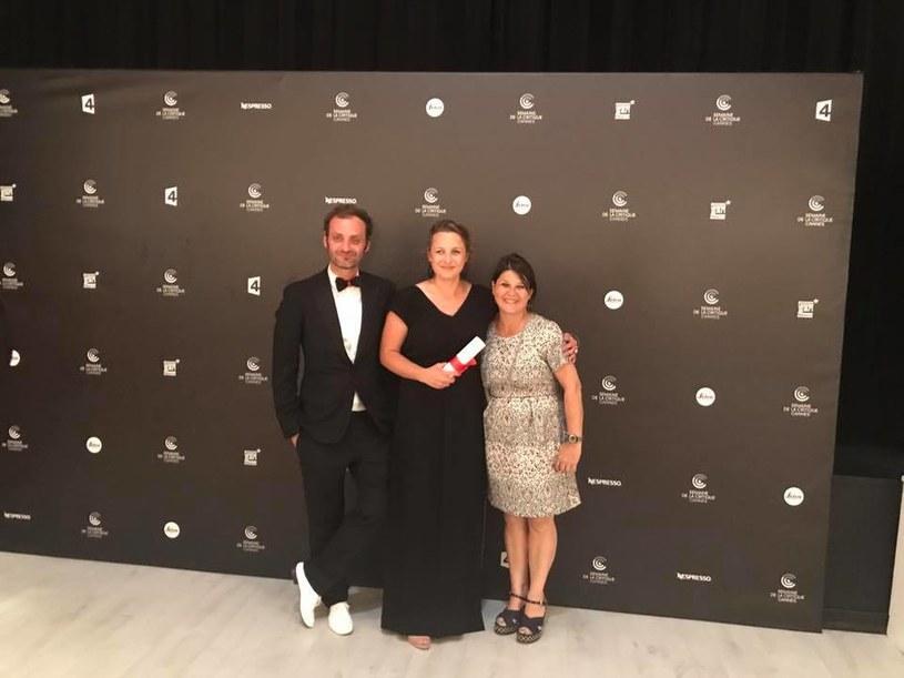 Aleksandra Terpińska z przedstawicielami francuskiego Canal+ /materiały prasowe