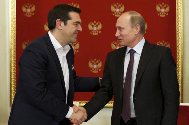 Aleksis Cipras i Władimir Putin: Tyko puste gesty? fot. Alexander Zemlianichenko / Pool /AFP