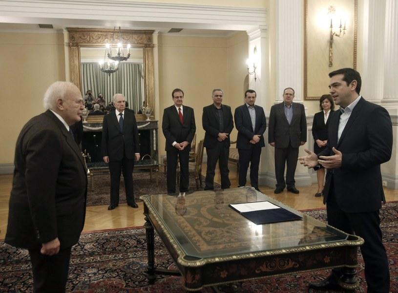 Aleksis Cipras zaprzysiężony na premiera /PAP/EPA
