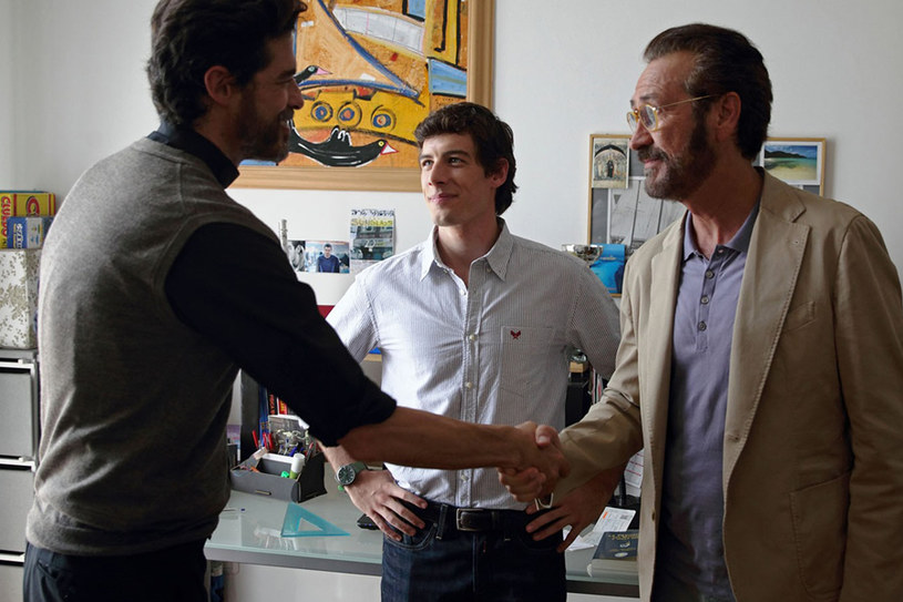 """Alessandro Gassman, Enrico Oetiker i Marco Giallini w scenie z filmu """"Jak Bóg da"""" /materiały prasowe"""