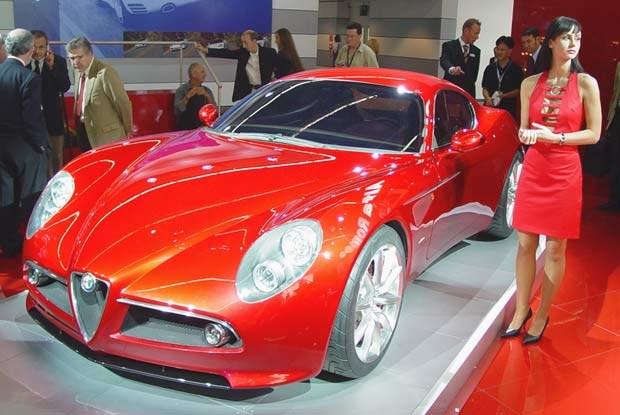 """Alfa Romeo """"8c Competizione"""" (kliknij) /INTERIA.PL"""