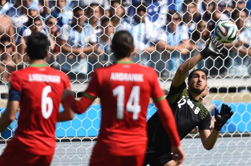 Alireza Haghighi obronił wiele strzałów Argentyńczyków /AFP