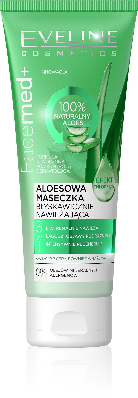 Aloesowa maseczka nawilżająco chłodząca Facemed+ Eveline Cosmetics /INTERIA.PL/materiały prasowe