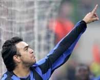 Alvaro Recoba zdobył prowadzenie dla Interu /AFP