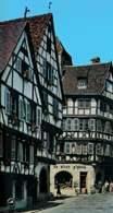 Alzacja, stare domy w Colmarze /Encyklopedia Internautica