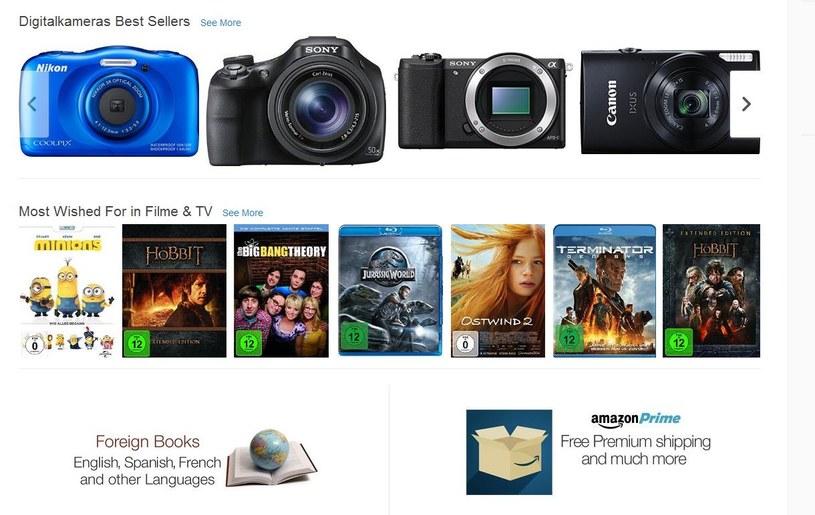 Amazon.de z darmową dostawą do Polski /Internet