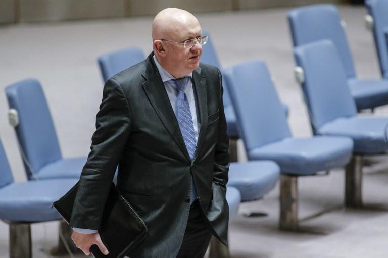 Ambasador Rosji przy ONZ Wasilij Niebienzia /Kena Betancur /AFP
