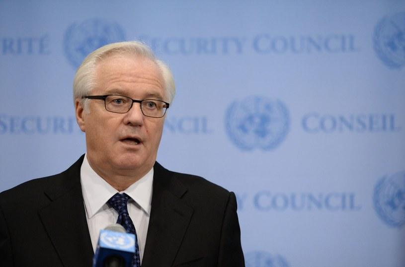 Ambasador Rosji przy ONZ Witalij Czurkin. /AFP