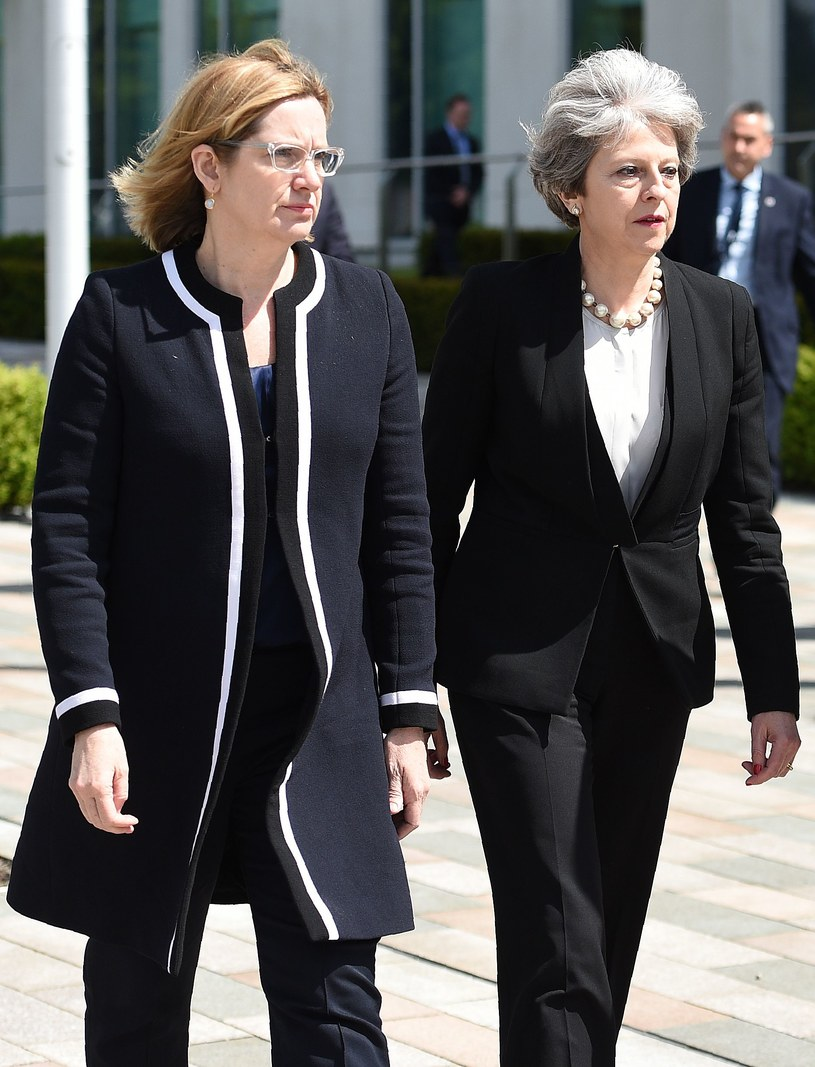 Amber Rudd i Theresa May /AFP