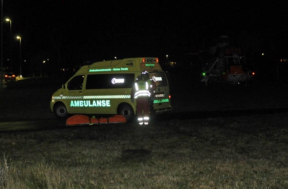 Ambulans na miejscu tragedii /EGIL JORGEN LUND /PAP/EPA