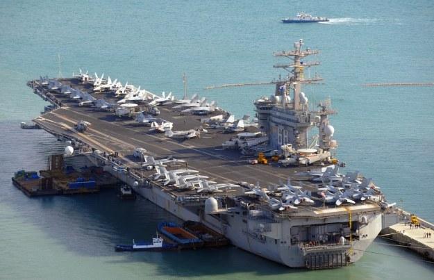 Amerykański lotniskowiec klasy Nimitz /AFP
