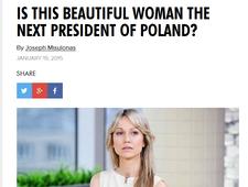 """Amerykański """"Playboy"""" o Ogórek. """"Będzie prezydentem?"""""""