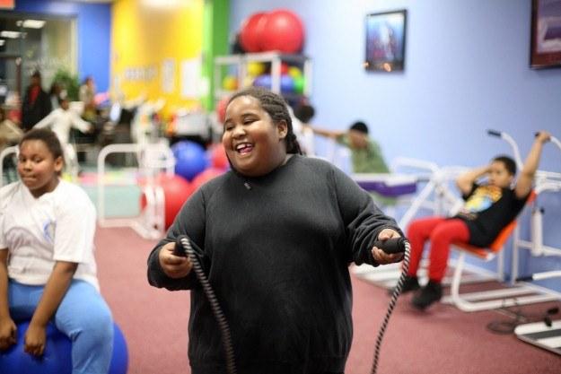 Amerykańskie dzieci walczą z otyłością /AFP