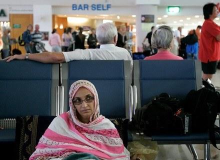 Aminatou Haidar na lotnisku Lanzarote /AFP