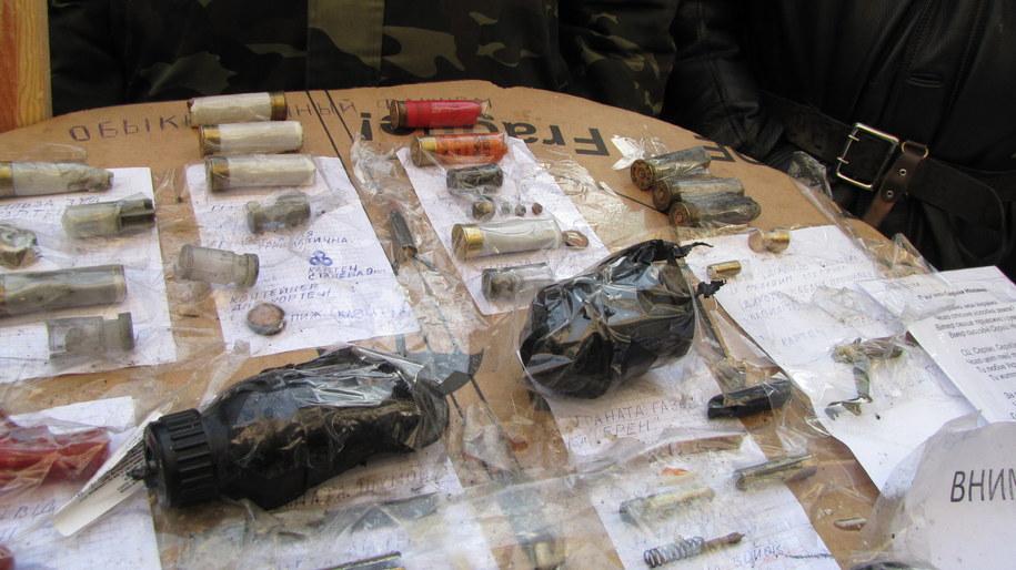 Amunicja, której używa milicja w Kijowie /Przemysław Marzec /RMF FM