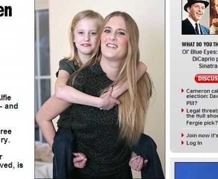 Amy z córką Alicią. Zdjęcie ze strony thesun.co.uk /