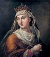 Andegaweni: królowa Polski Jadwiga, obraz M. Bacciarellego /Encyklopedia Internautica