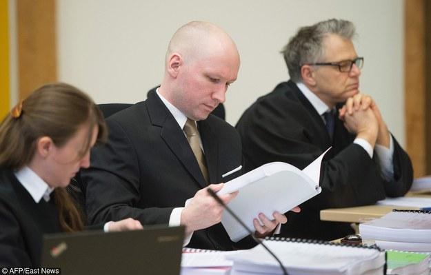 Anders Breivik na sali sądowej /JONATHAN NACKSTRAND /East News