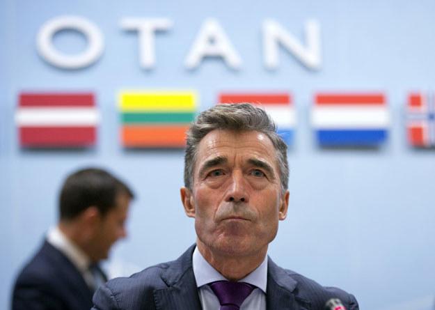Anders Fogh Rasmussen ostrzega przed eskalacją konfliktu w Europie fot. Virginia Mayo /AFP