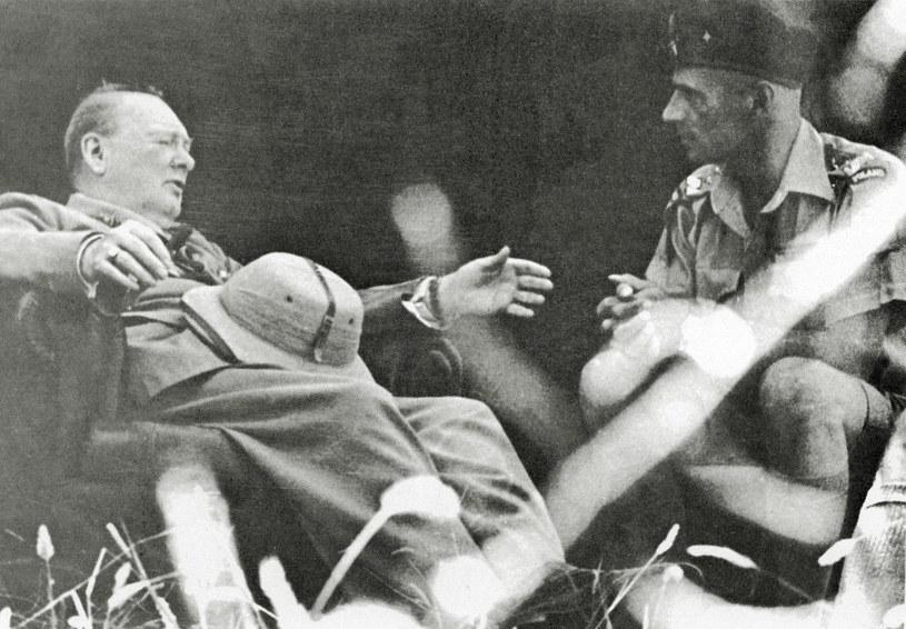 Anders w rozmowie z Churchillem. Obaj niezwykle się szanowali, choć Anglik uważał Andersa za narwańca /Archiwum Karlicki /East News