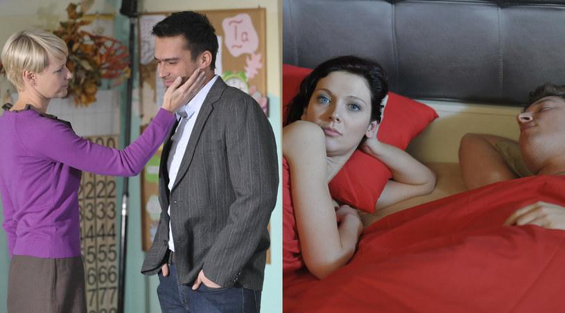 Andżelika Piechowiak i Michał Lesień choć grają w jednym serialu, nie pracują ze sobą /Agencja W. Impact