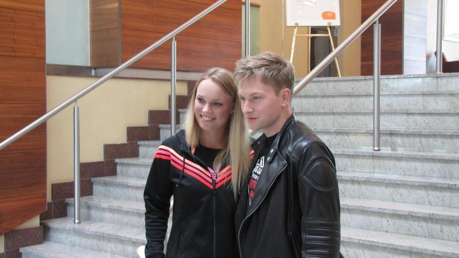 Caroline Wozniacki i Jakub Wesołowski /Patryk Serwański /RMF FM