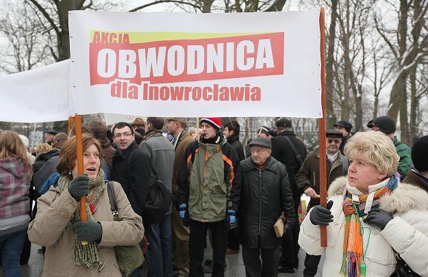 Dróg domagają się wszycy. Na zdjęciu: demonstracja ws. budowy obwodnicy Inowrocława /PAP