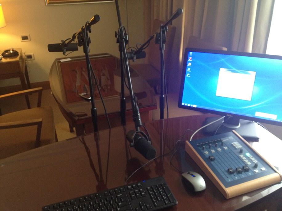 Euro studio RMF FM w hotelu Hyatt /Roman Osica /RMF FM