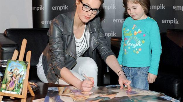 """Julia Kamińska na premierze dvd """"Zaplątanych"""" /Agencja W. Impact"""