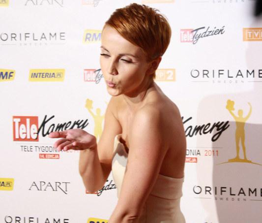 Katarzyna Zielińska zdobyła Telekamerę dla najlepszej aktorki /INTERIA.PL