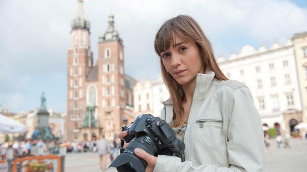Majka Olkowicz (Joanna Osyda) na Rynku Głównym w Krakowie /Jacek Wrzesiński /TVN
