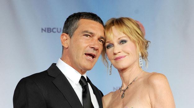Melanie Griffith i jej mąż, Antonio Banders /AFP