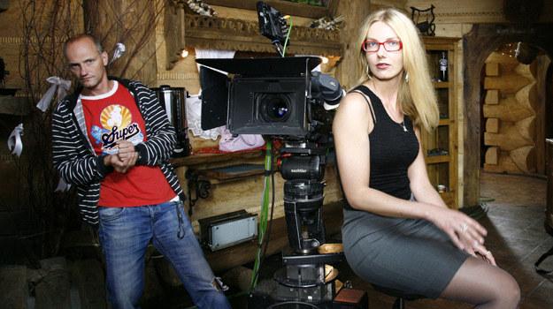 """Na planie """"Szpilek…"""": Nasza laureatka, Olga, zasiadła za kamerą /Bartek Rzepecki /Polsat"""