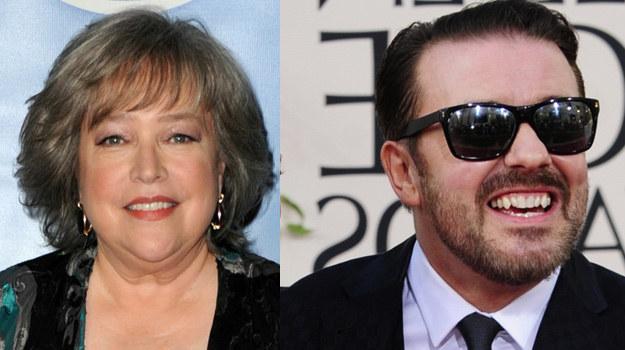 Ricky Gervais i Kathy Bates /AFP