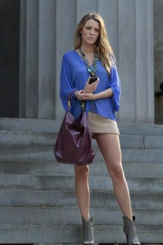 Serena van der Woodsen (Blake Lively) wzoruje się na modelkę Kate Moss /materiały prasowe