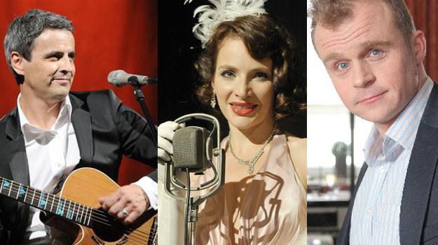 Śpiewające gwiazdy: Piotr Polk, Anna Dereszowska i Piotr Rogucki /Agencja W. Impact