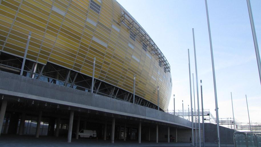 Stadion w Gdańsku bez logo /fot. Kuba Kaługa /RMF FM