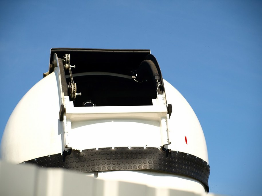 Teleskop słoneczny /fot. Andrzej Piedziewicz /RMF FM
