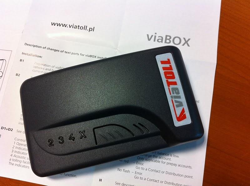 Viabox, urządzenie do opłat drogowych /Michał Dukaczewski /RMF FM