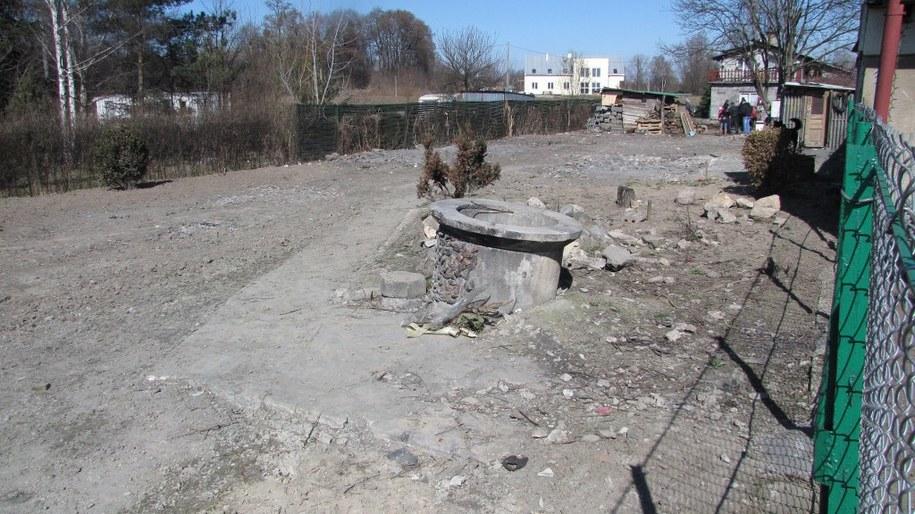 W tym miejscu stał dom, na który spadła awionetka /Maciej Grzyb /RMF FM